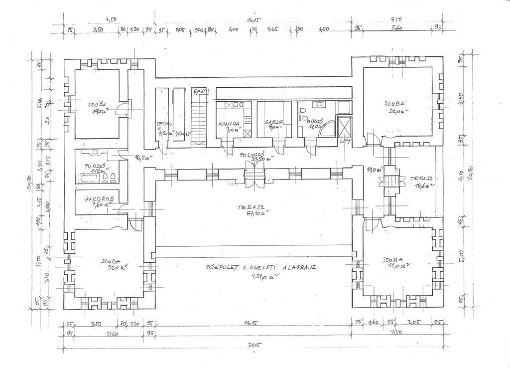 Főépület, II. emelet